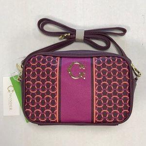 C Wonder Cabernet horseshoe Caiden bag purse pink